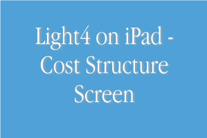 Light4 Job Costing and Cost Structure Screen